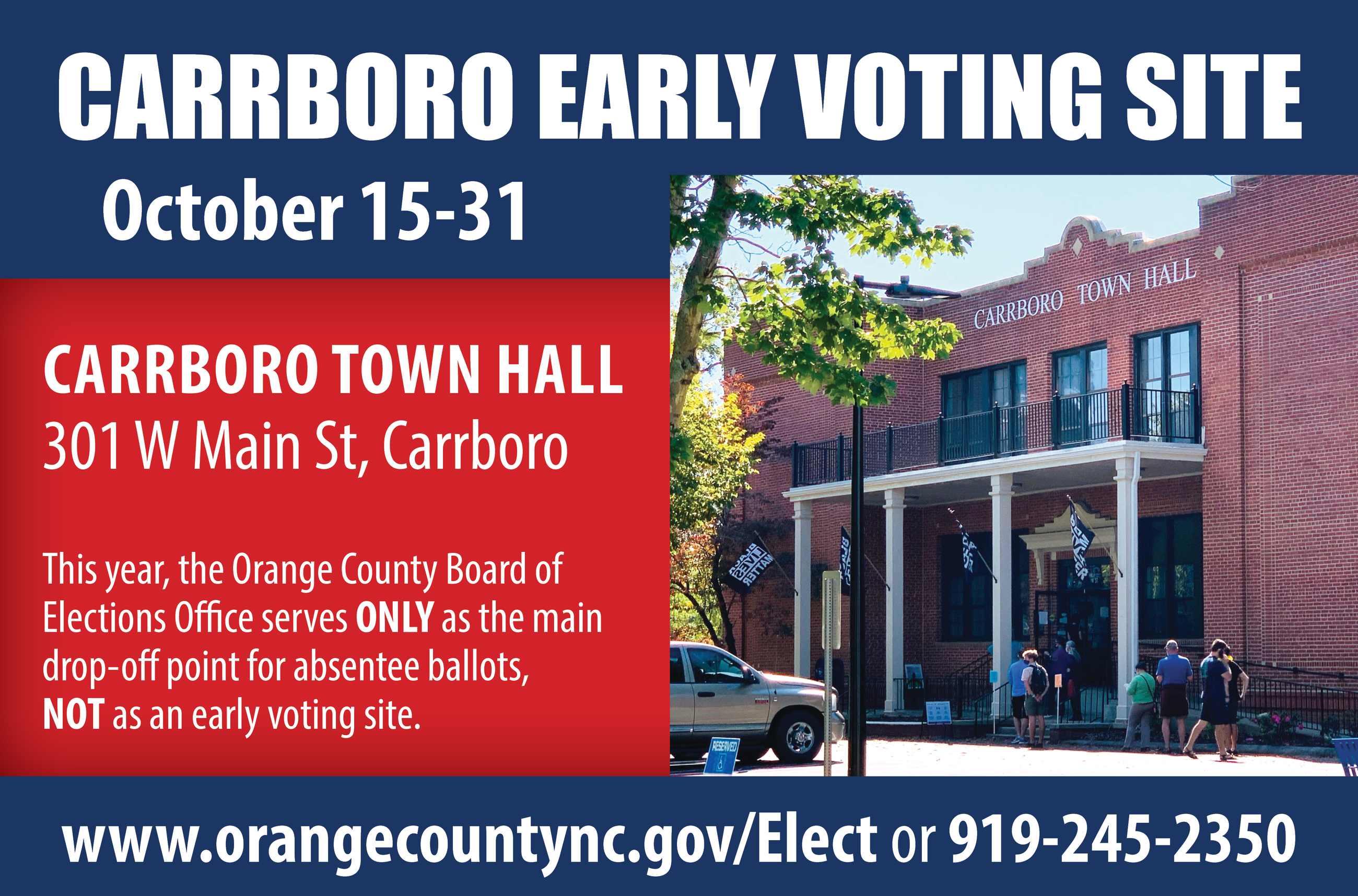carrboro early voting
